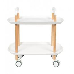 Pojízdný odkládací stolek TROLLEY, white