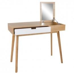 Toaletní stůl MILANO, 1 bílá zásuvka a zrcadlo