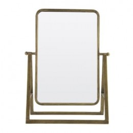 Stojací zrcadlo SAY CHEESE , 46 cm, antique brass