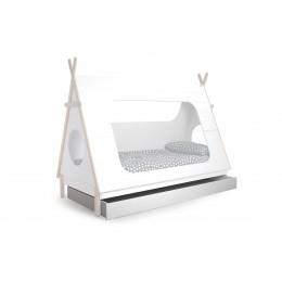 Dětská postel TIPI 90 x 200 cm s roštem,bílá