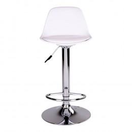 Barová židle TRONDHEIM bílá,chrom