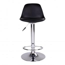 Barová židle TRONDHEIM černá,chrom
