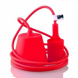 Silikon 1-závěsná žárovka červená