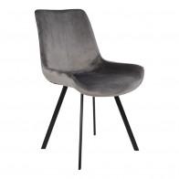 Jídelní židle DRAMMEN šedá samet, černá podnož