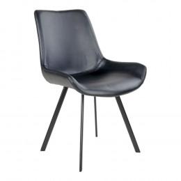 Jídelní židle DRAMMEN černá / černá podnož