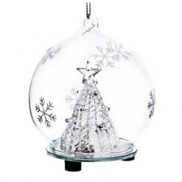 Koule svítící zasněžená s bílými hvězdami  LED