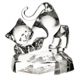 Slon skleněný na podstavci 7 cm