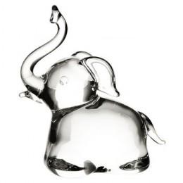 Slon skleněný na podstavci 5 cm