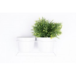 Nástěnná nádoba na květiny (květináč) BART ZUIVER, bílý