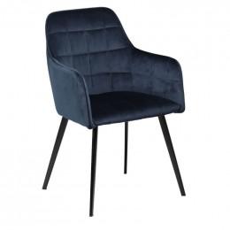 Židle DANFORM EMBRACE, samet modrá