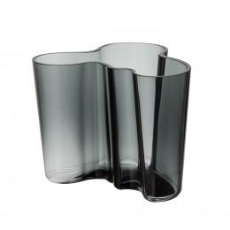 Váza Alvar Aalto Iittala 120 mm tmavě šedá
