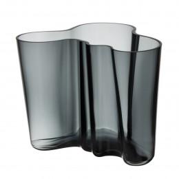 Váza Alvar Aalto Iittala 160 mm tmavě šedá