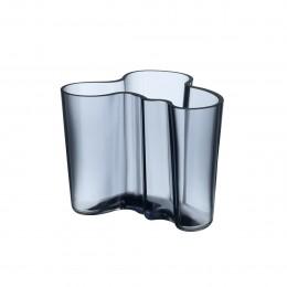 Váza Alvar Aalto Iittala 95 mm šedomodrá