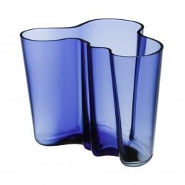 Váza Alvar Aalto Iittala 160 mm modrá