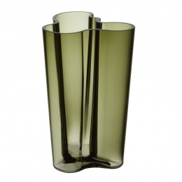 Váza Alvar Aalto Iittala 251 mm mechově zelená