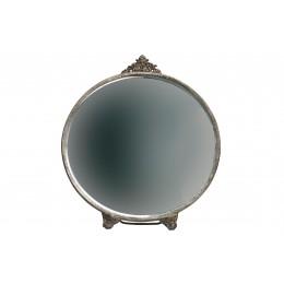 Zrcadlo stolní kulaté POSH ,metal-antická mosaz
