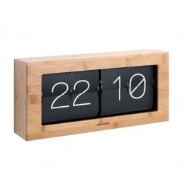 Překlápěcí hodiny FLIP BOXED XL, bambusové dřevo