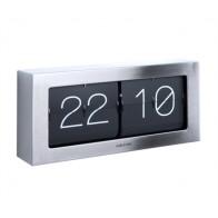 Překlápěcí hodiny FLIP BOXED XL, stříbrné