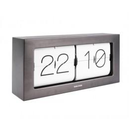 Překlápěcí hodiny FLIP BOXED XL, šedé