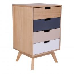 Komoda barevná dřevěná MILANO se 4 zásuvkami