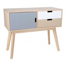 Konzolový stolek barevný MILANO s 2 zásuvkami a 1 dveřmi