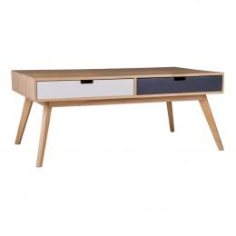 Konferenční stolek barevný  MILANO se 4 zásuvkami