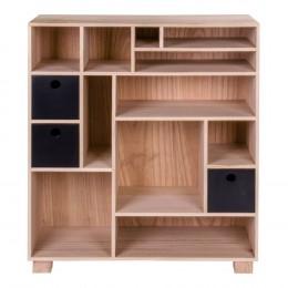Dřevěná knihovna přírodní  House Nordic LIVORNO B