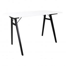 Stůl VOJENS 120 cm bílý, černá podnož
