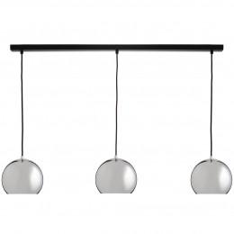 Ball Tract, závěsné světlo 3x Ø18 cm měděná/lesk