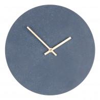 Hodiny PARIS modré Ø60 cm, kamenný look