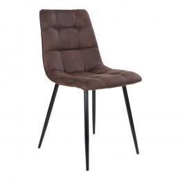 Jídelní židle MIDDELFART mikrovlákno, tmavě hnědá