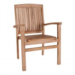 Zahradní židle s područkami MALLORCA, teak dřevo