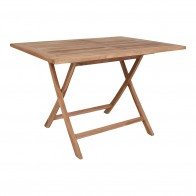 Jídelní stůl zahradní OVIEDO HOUSE NORDIC 120cm, teak dřevo