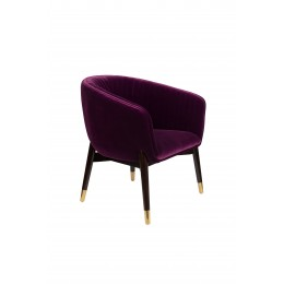 Lounge křeslo DUTCHBONE DOLLY, purple fr