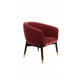 Lounge křeslo DUTCHBONE DOLLY, burgundy fr