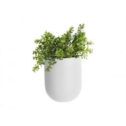 Nástěnná nádoba na květiny (květináč) GLOBE PRESENT TIME,mat bílý