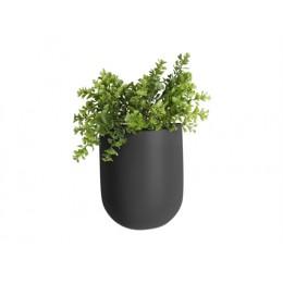 Nástěnná nádoba na květiny POT OVAL PRESENT TIME,mat černý