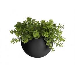 Nástěnná nádoba na květiny GLOBE PRESENT TIME,mat černý