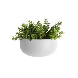 Nástěnná nádoba na květiny (květináč) POT OVAL PRESENT TIME,mat bílý