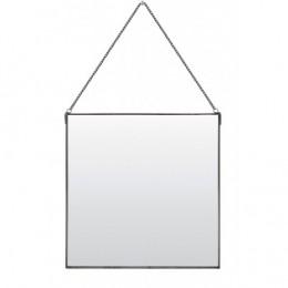 Zrcadlo  závěsné MOMO ZINC 37x 37 cm, zinek