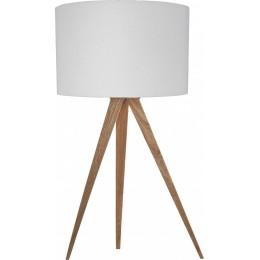 Stolní lampa Tripod Wood white