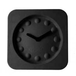 Hodiny Pulp Time, hranaté, černé