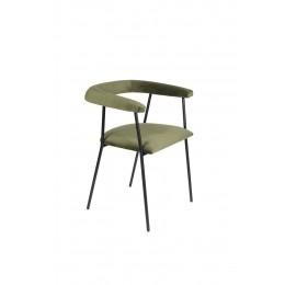 Židle s područkami HAILY dark green
