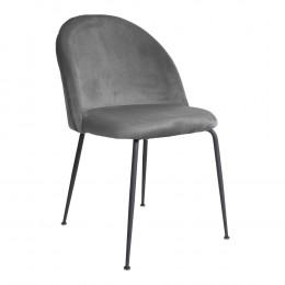 Jídelní židle GENEVE modrý samet,černé nohy