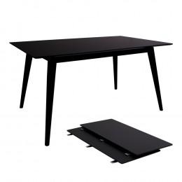 Jídelní stůl rozkládací COPENHAGEN 150-230x90cm,černý