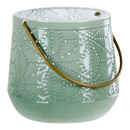 Lucerna na svíčku NICE M 16 cm, zelená