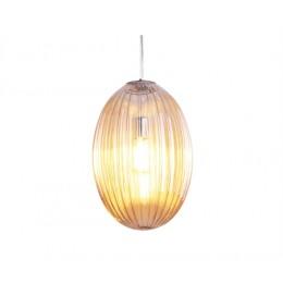 Závěsné svítidlo SMART OVAL L PRESENT TIME,sklo amber