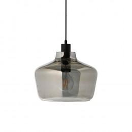 Závěsné svítidlo skleněné KYOTO FRANDSEN, smoke black