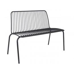 Venkovní lavice LINEATE, černá
