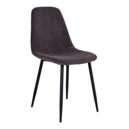 Jídelní židle STOCKHOLM šedý samet, černá podnož
